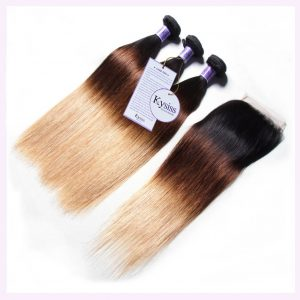 Human hair wig, black and blond